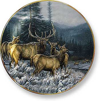 Rustic Retreat Plate - Broken Silence: Elk