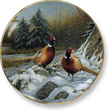 Rustic Retreat Plate - Broken Silence: Pheasant