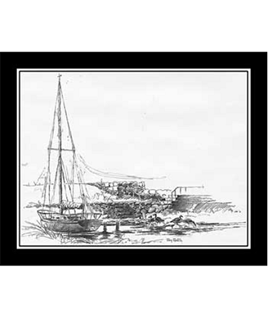 Pencil Sketch - Sailboat