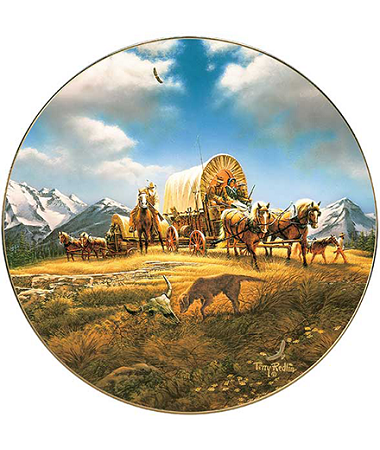 America the Beautiful Plate Series - O Beautiful for Spacious Skies