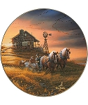 America the Beautiful Plate Series - For Amber Waves of Grain