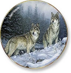 Rustic Retreat Plate - Broken Silence: Wolf