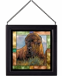 Stained Glass Art - Old Timer - Bison