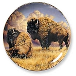 Rustic Retreat Plate - Prairie Monarchs: Bison