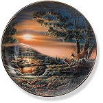 Whitetail Deer II Plate Series - Sharing the Sunset