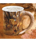 Sculpted Mug - Rustic Retreat: Whitetail Deer
