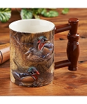 Sculpted Mug - Wood Ducks