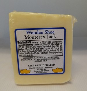 Wooden Shoe Monterey  Jack Flavored Cheese
